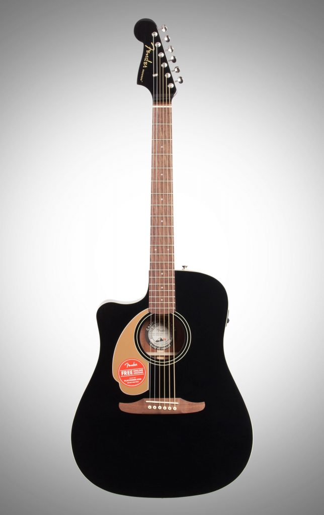 Thin Body Acoustic Guitar Left-Handed Fender Redondo