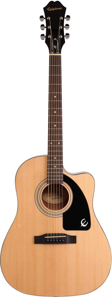 Epiphone AJ-100CE Jumbo Cutaway Acoustic-Electric GuitarReach