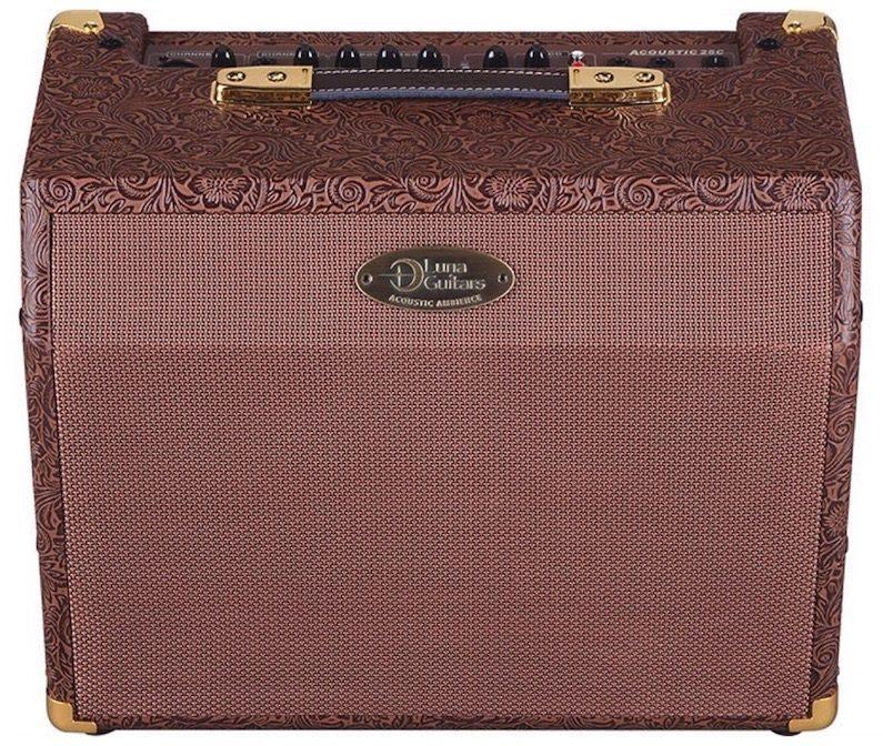 Authorized Luna Guitars Retailer Luna Acoustic Ambiance 25 Guitar Combo Amplifier (25 Watts)