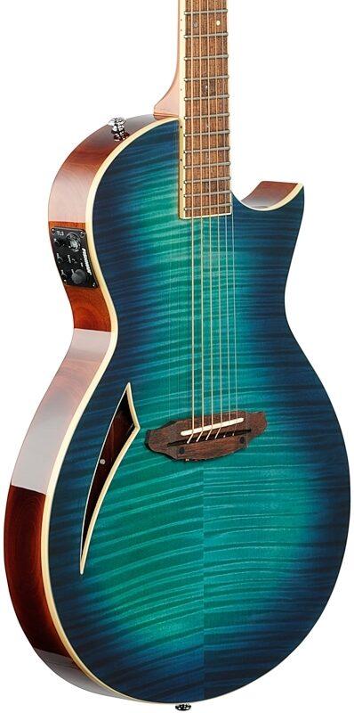 Thin Body Acoustic Guitar ESP LTD TL6FM Acoustic-Electric Thinline Guitar